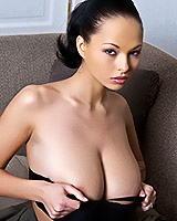 Domino shows us her all natural boobs
