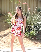 Hot FTV Teen Tara does a flip in the park